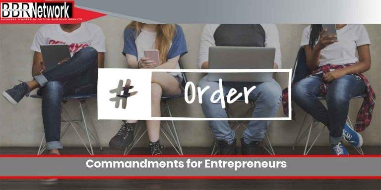 Commandments for Entrepreneurs