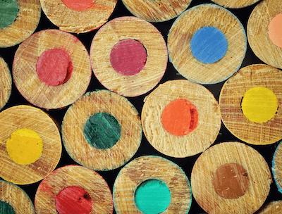 closeup-colored-pencils-represent-email-color-scheme