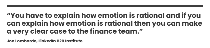 You have to explain how emotion is rational