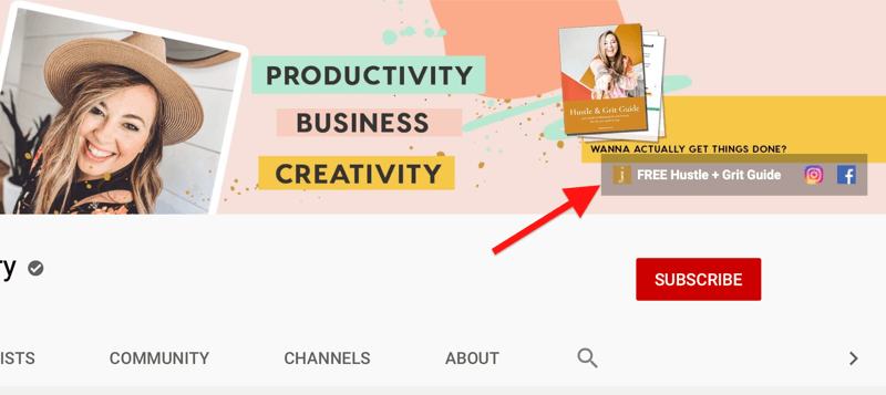 opt-in-link-in-youtube-channel-header